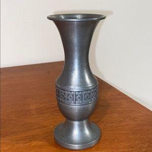 VTG Norwegian Haugrud Pewter Norway Tinn Bud Vase